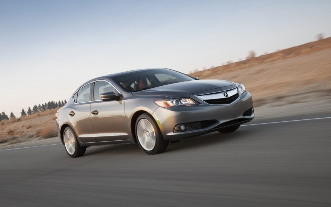 2013 Acura ILX 2 0L Front Three Quarters In Motion 660x413