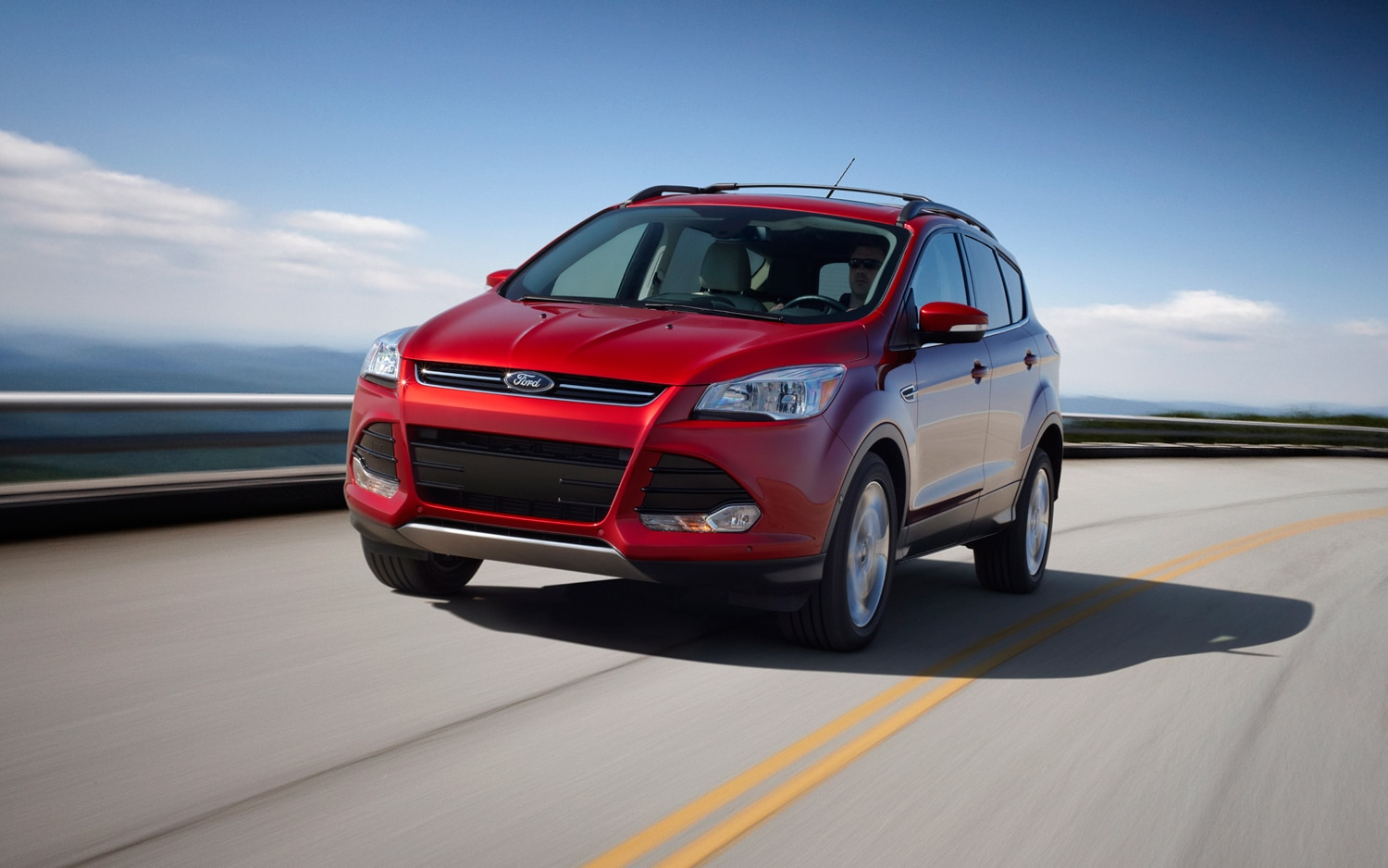 2013 Ford Escape Front Three Quarter In Motion 41