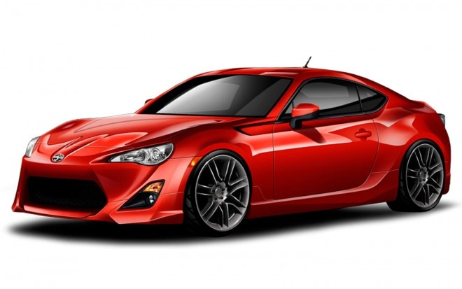 2013 Scion FR S With Five Axis Body Kit Front View1 660x413