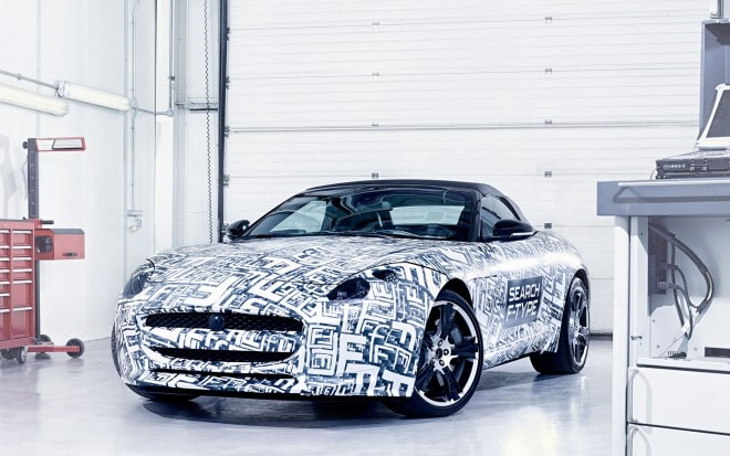 2014 Jaguar F Type Roadster Prototype Front Three Quarters View1 660x413