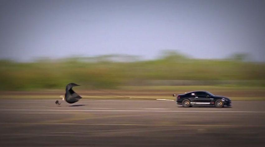 AMS Nissan GT R Drag Chute Deployed1