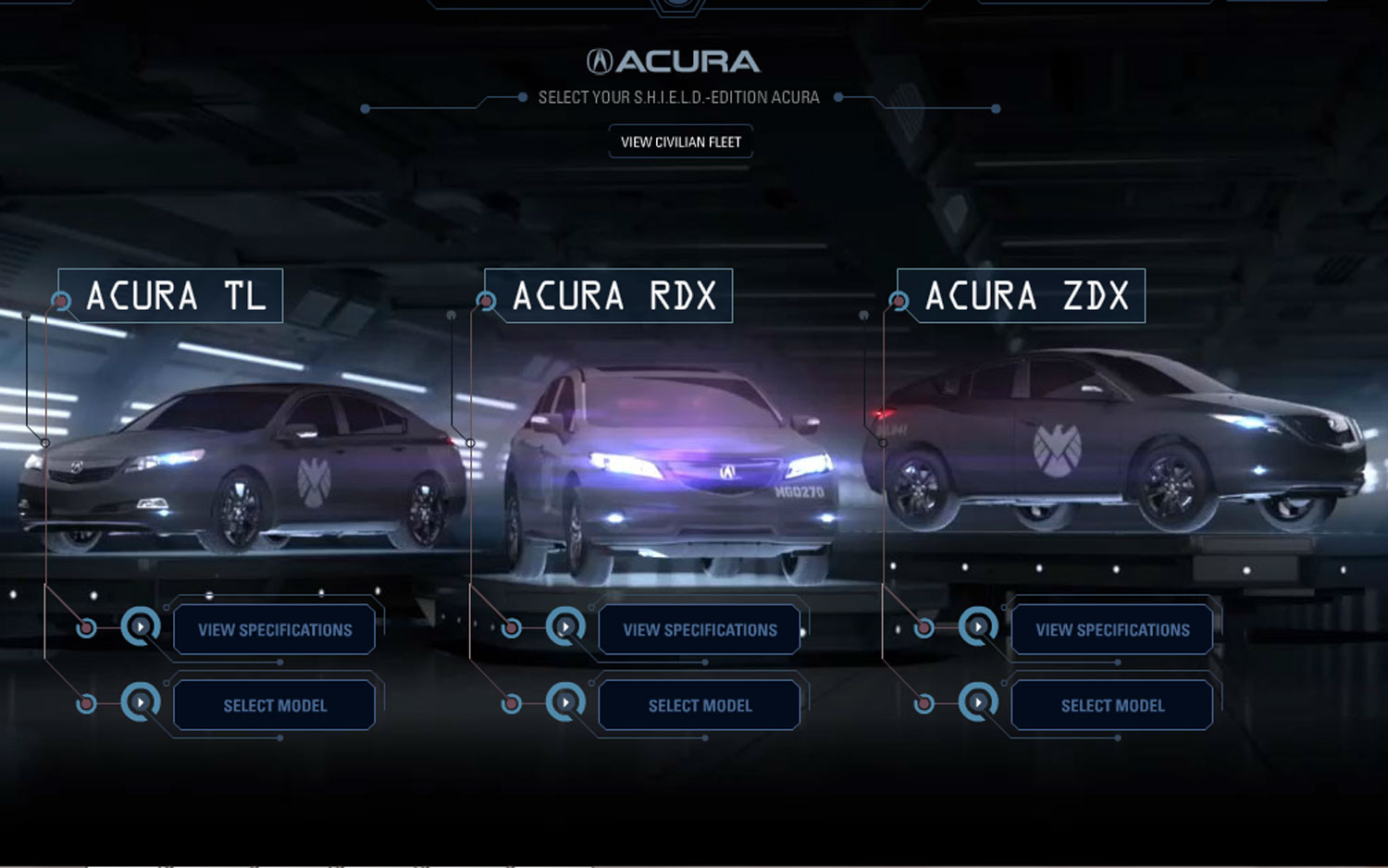 Acura Avengers Vehicle Selection