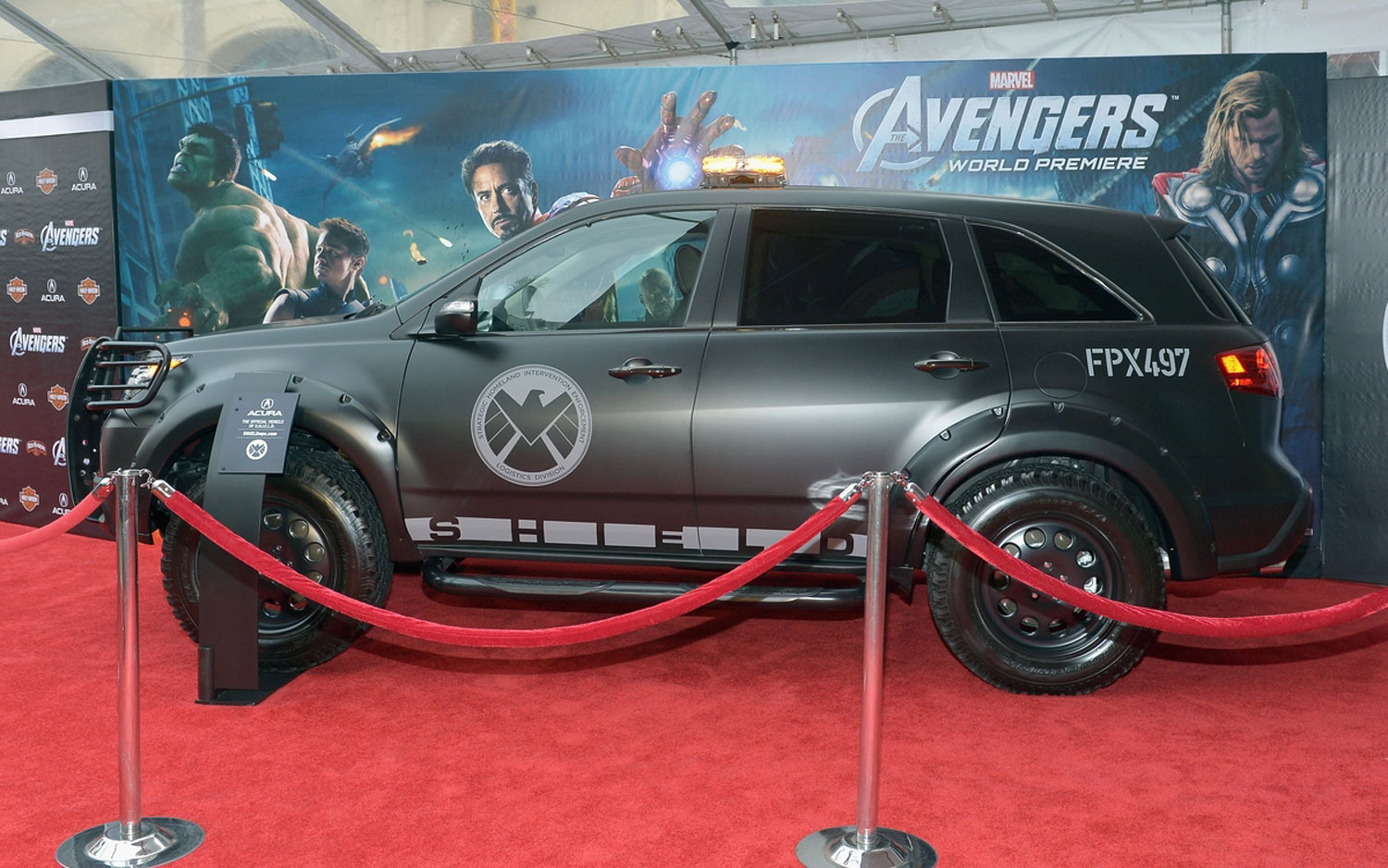 Acura Sports Car Rolls On The Avengers Red Carpet Event