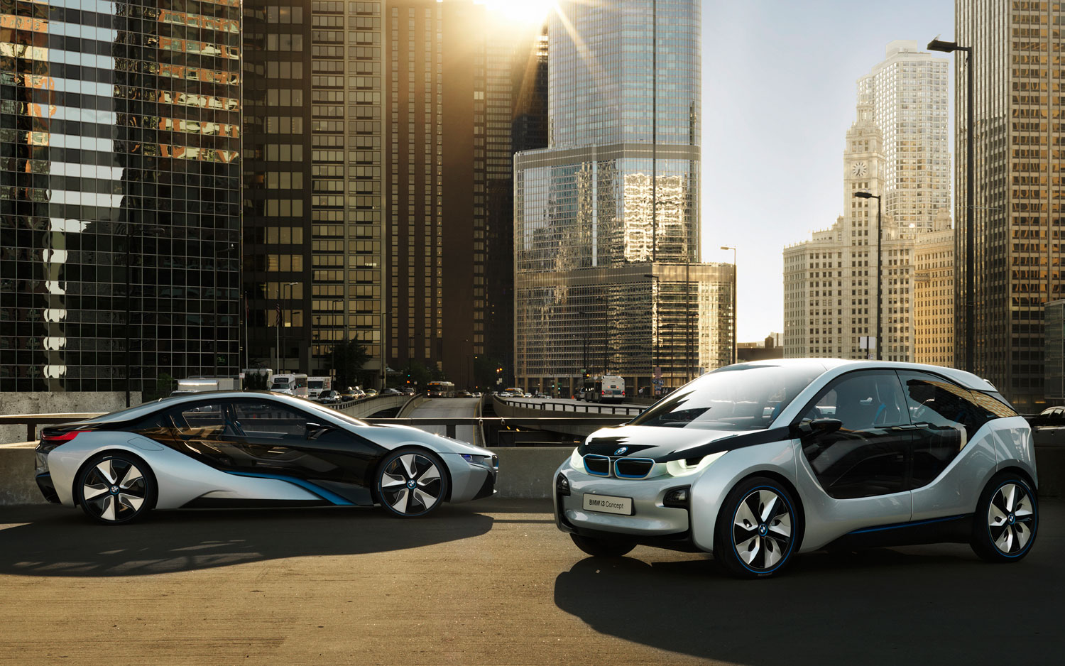 BMW I8 And I3 Concepts Side View1