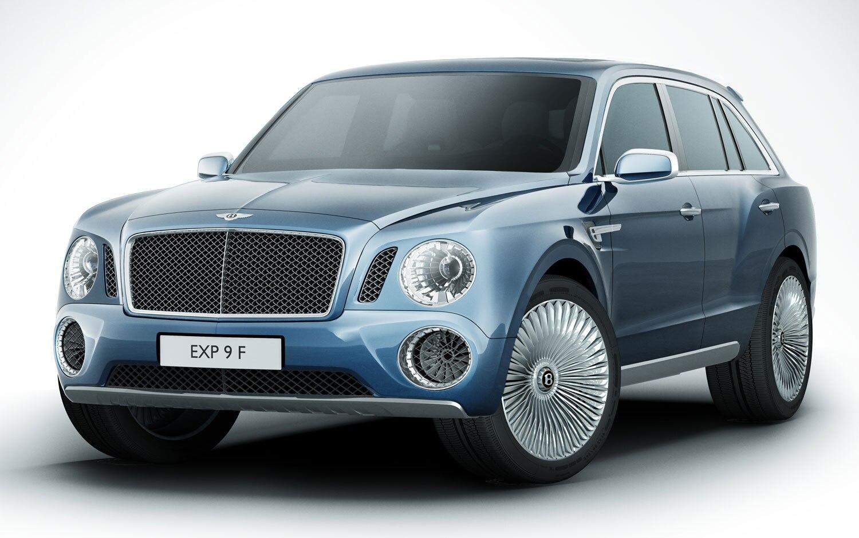 Bentley EXP 9 F SUV Concept Front Three Quarters View1