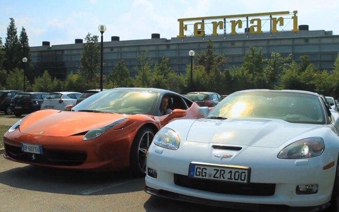 Chevrolet Corvette ZR1 With Ferrari 458 Italia1 660x413