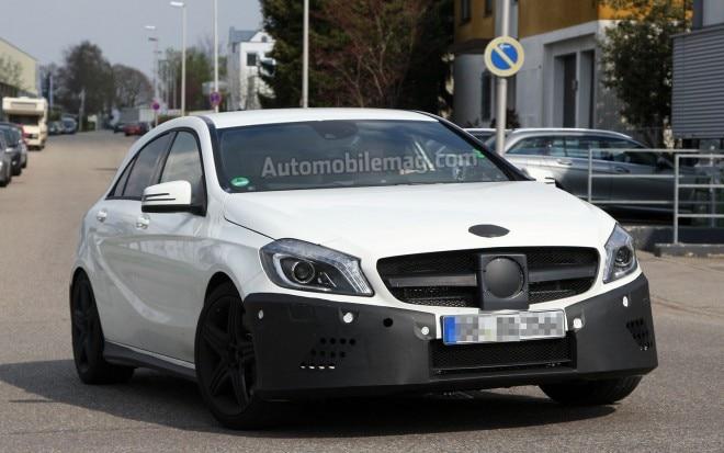 Mercedes Benz A25 AMG Spy Shot Front Three Quarter 21 660x413