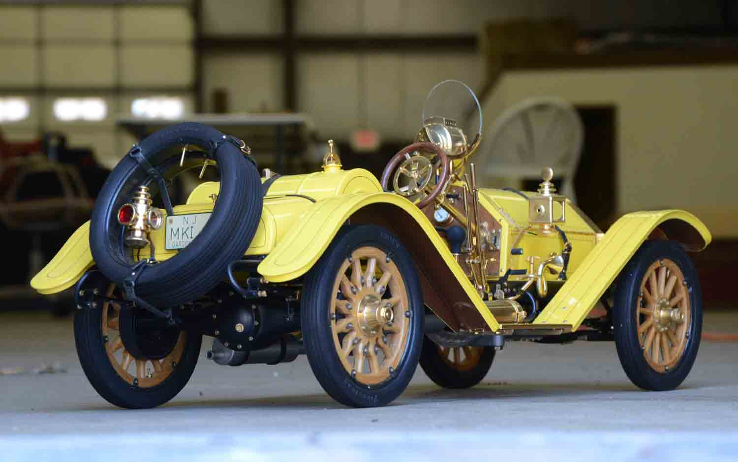1913 Mercer Raceabout Model By Sapor Rear View1