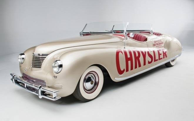 1941 Chrysler Newport Dual Cowl Phaeton By LeBaron Front Three Quarter1 660x413