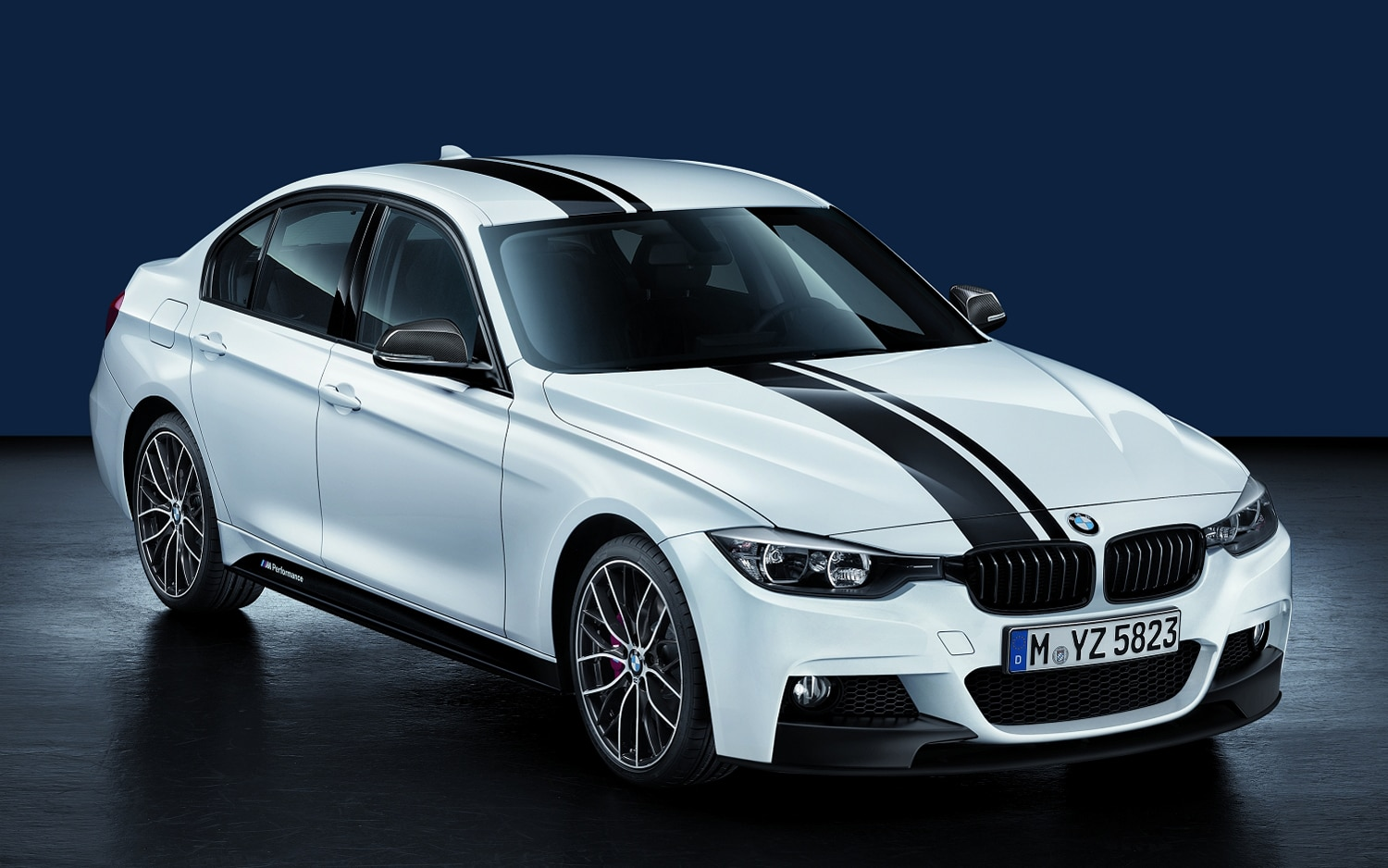 2012 BMW 3 Series With M Performance Parts Front Three Quarter1