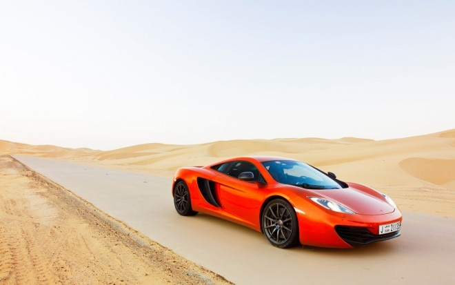 2012 McLaren MP4 12C Front Three Quarter Desert1 660x413