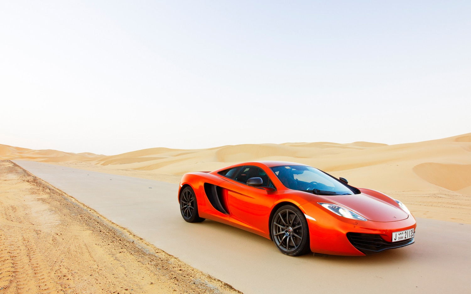 2012 McLaren MP4 12C Front Three Quarter Desert1