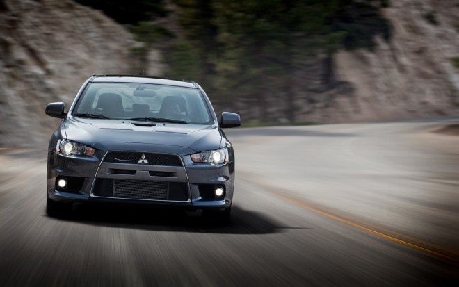 2012 Mitsubishi Lancer Evolution MR Front View1 660x413
