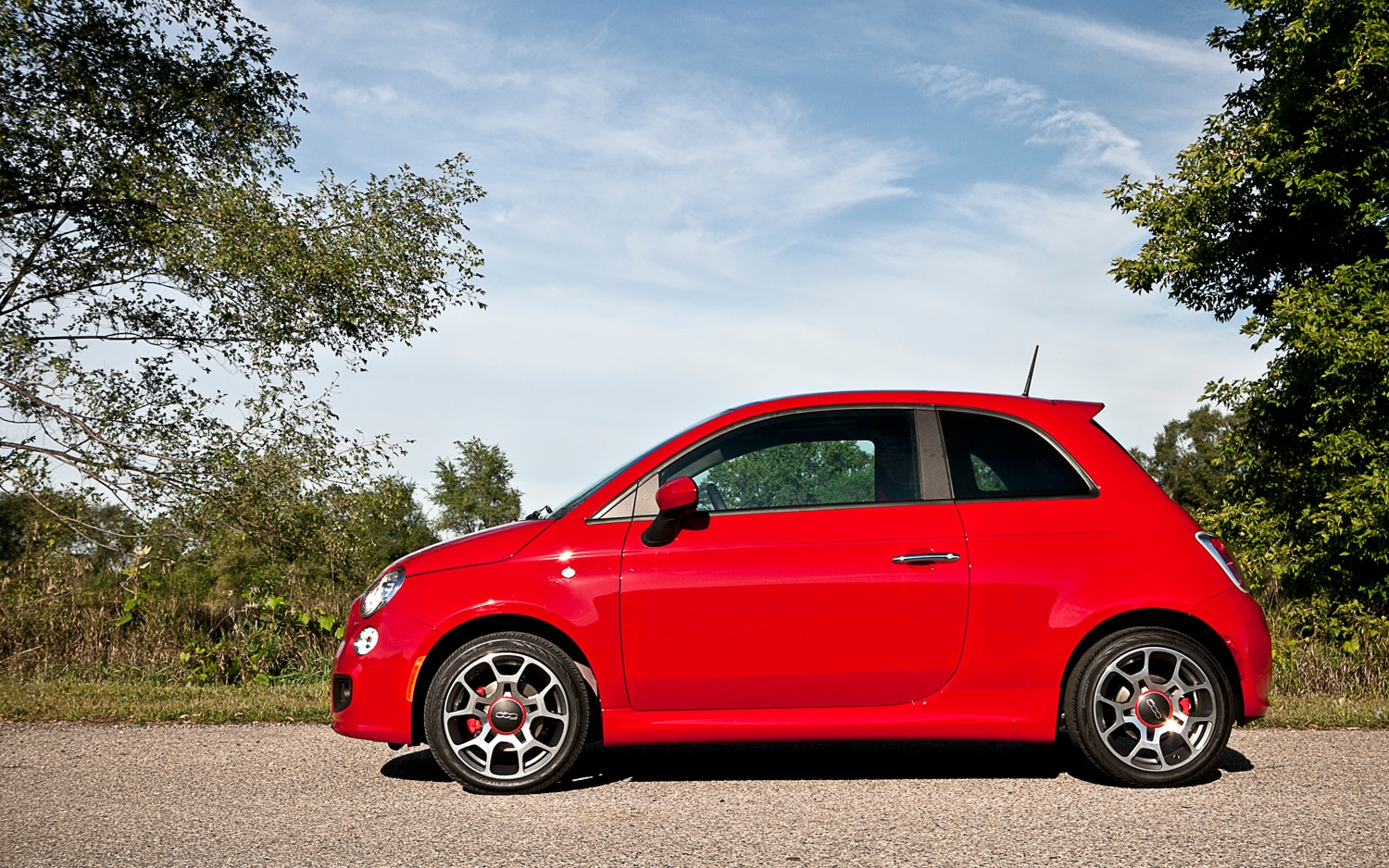 2012 Fiat 500 Sport Left Side View