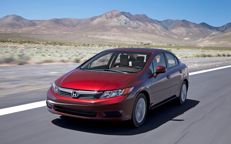 2012 Honda Civic EX Front Three Quarter In Motion1