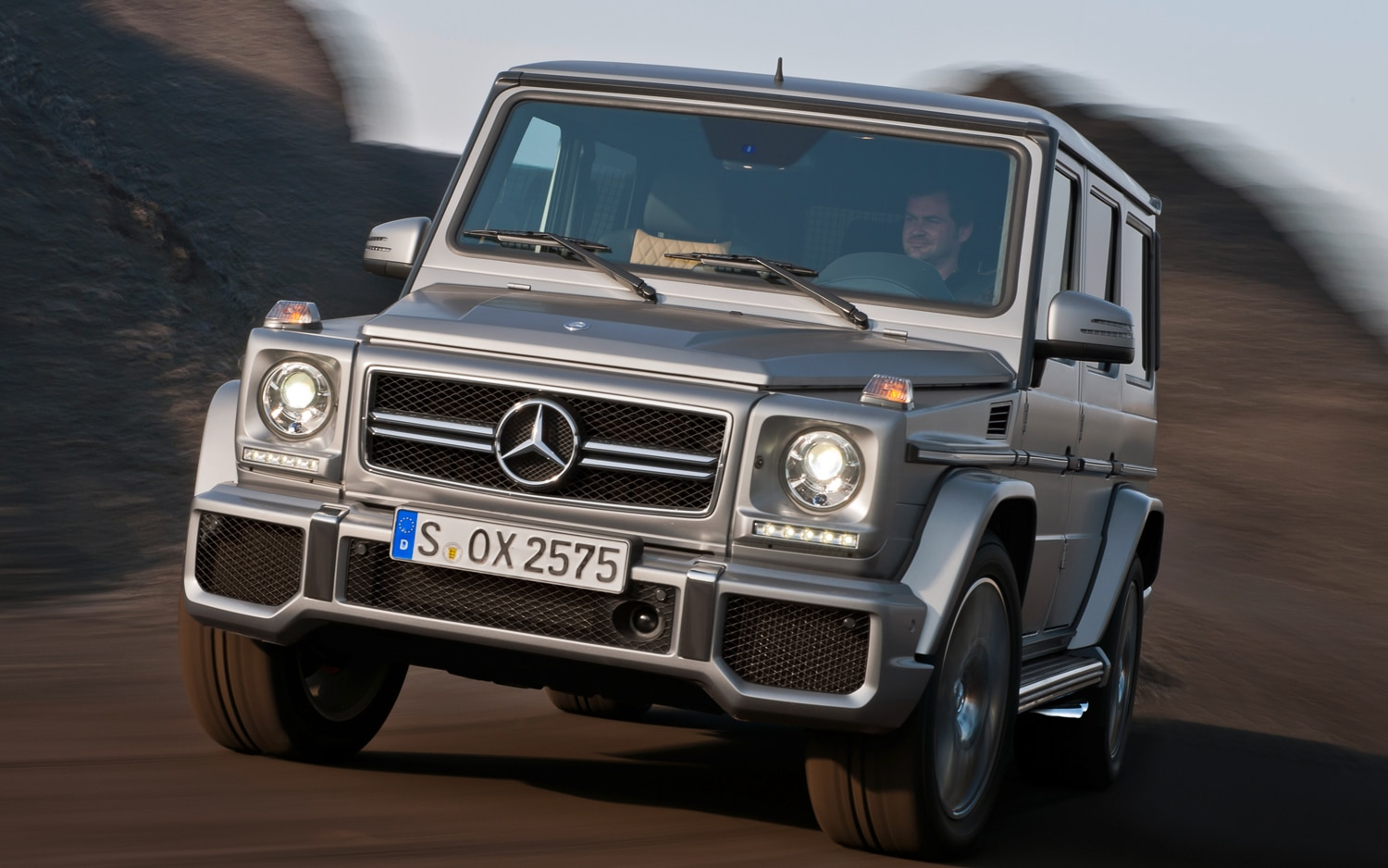 2013 Mercedes Benz G63 AMG Front View In Motion1