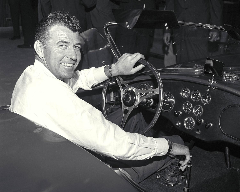 Carroll Shelby In Vintage Cobra