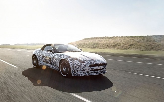 Jaguar F Type Prototype Front Thee Quarter View In Motion1 660x413