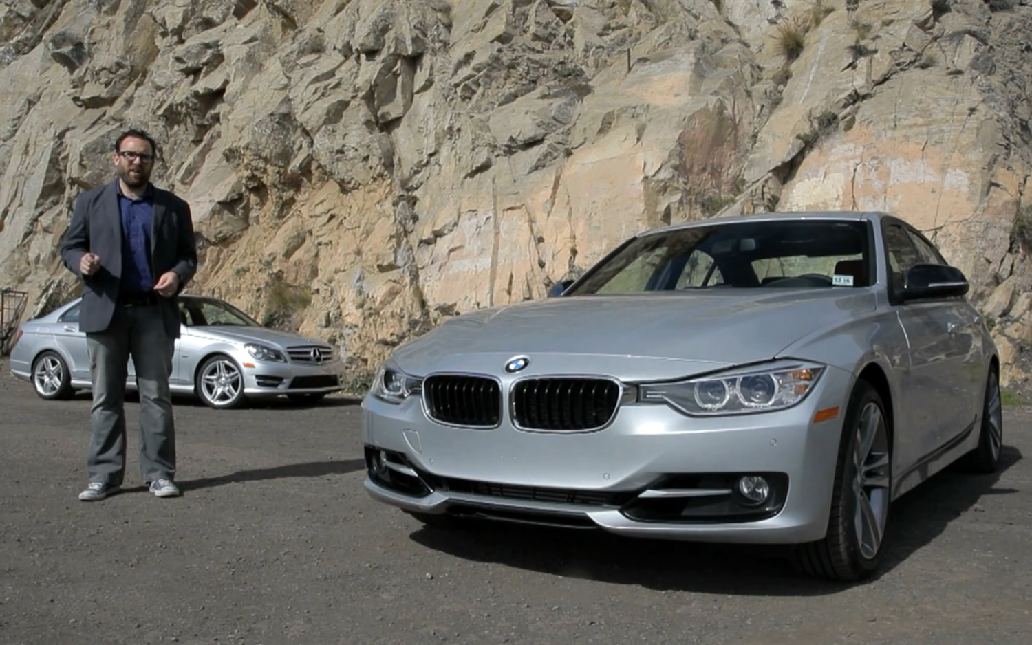 Jonny Lieberman With BMW 328i And Mercedes Benz C2501