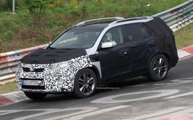 Kia Sorento Spy Photo Front Three Quarter 11 660x413