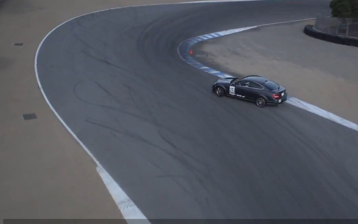 Mercedes Benz C63 AMG Coupe On Corkscrew Driver Side1