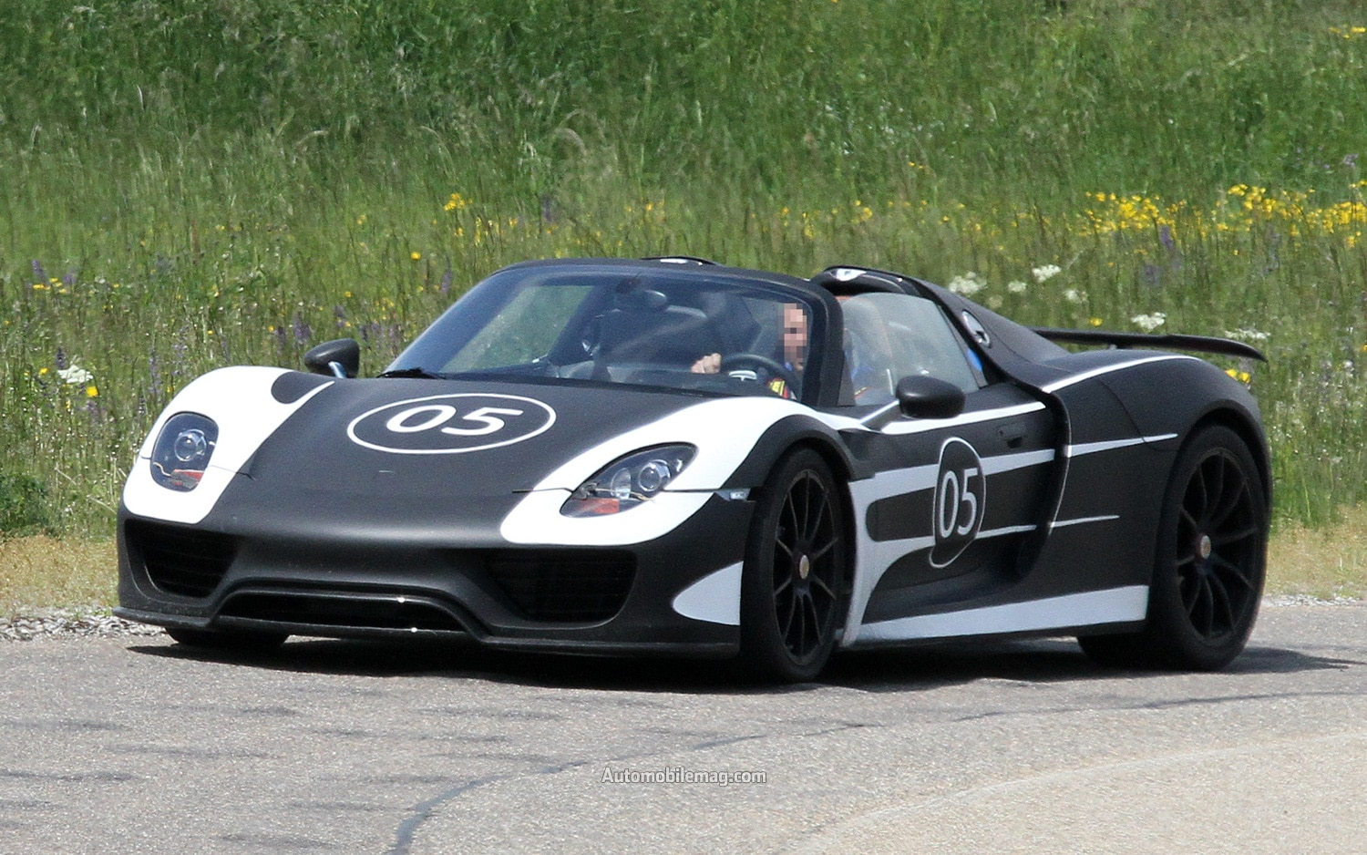 caught porsche 918 spyder prototype testing in europe. Black Bedroom Furniture Sets. Home Design Ideas