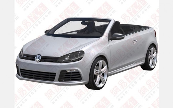 Volkswagen Golf R Cabriolet Front Three Quarter Leak1 660x413