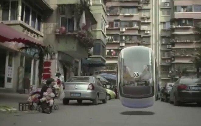 Volkswagen Hover Car Flying Down Street 21 660x413