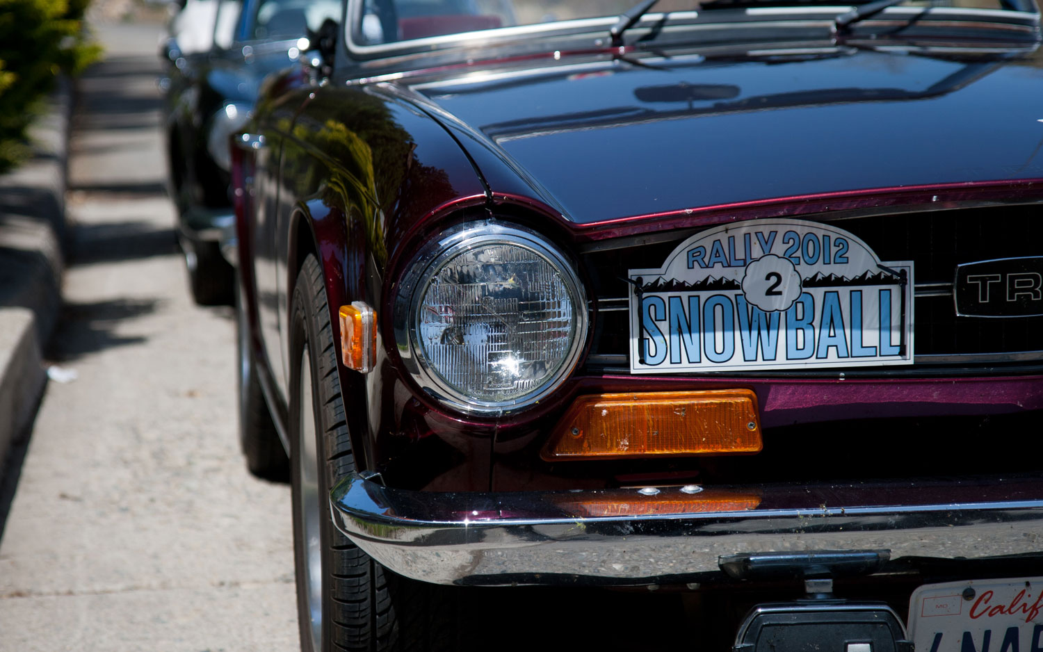 Tr6 Number Plate