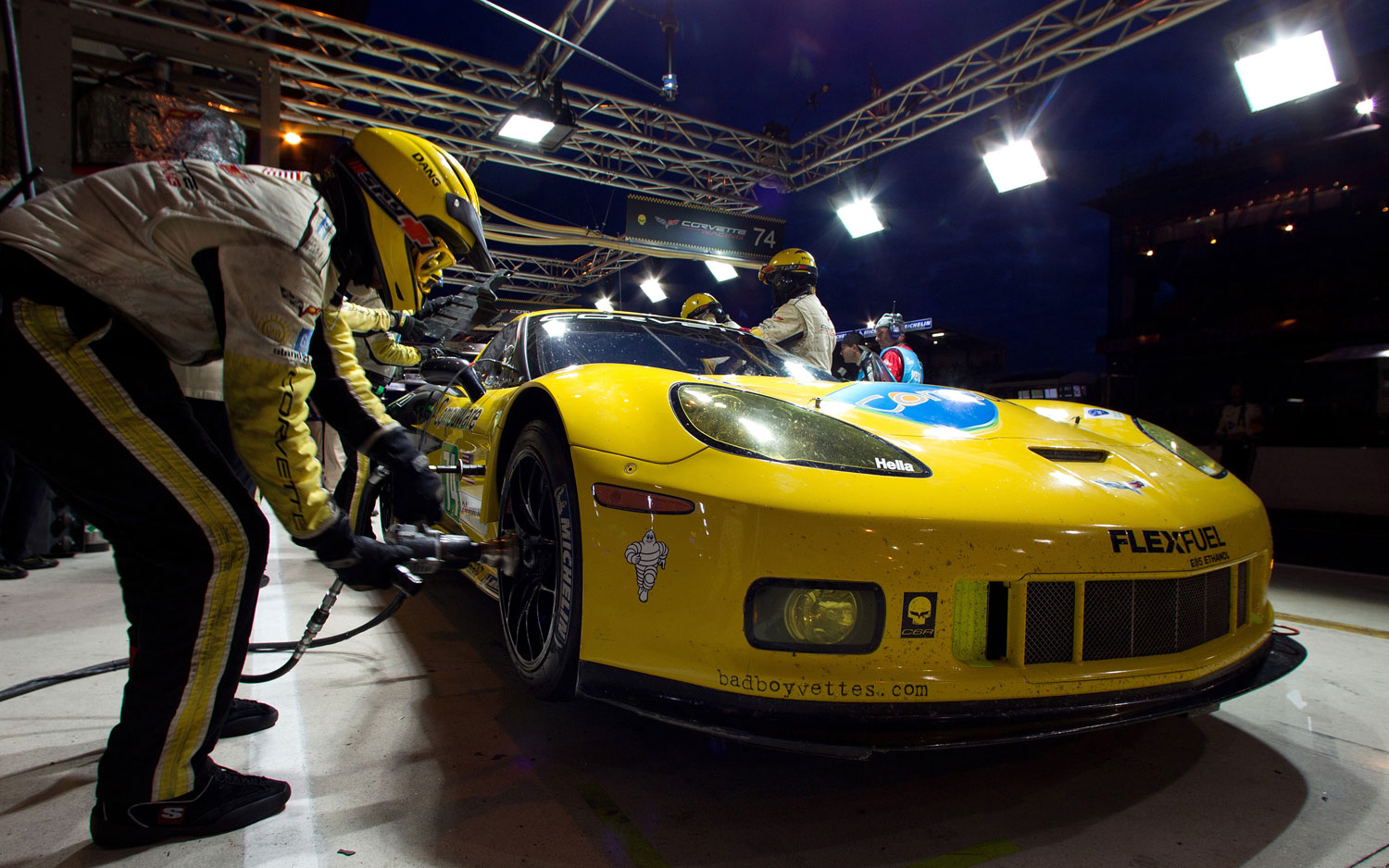 2011 Chevrolet Corvette C6 R At Le Mans In Pit1