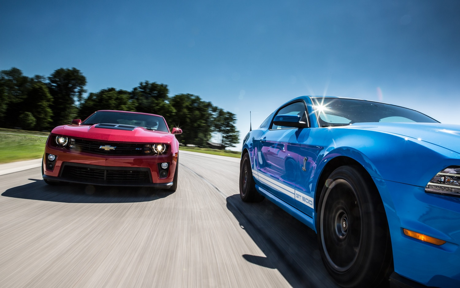 2012 Chevrolet Camaro Zl1 Vs 2013 Ford Shelby Gt500 On