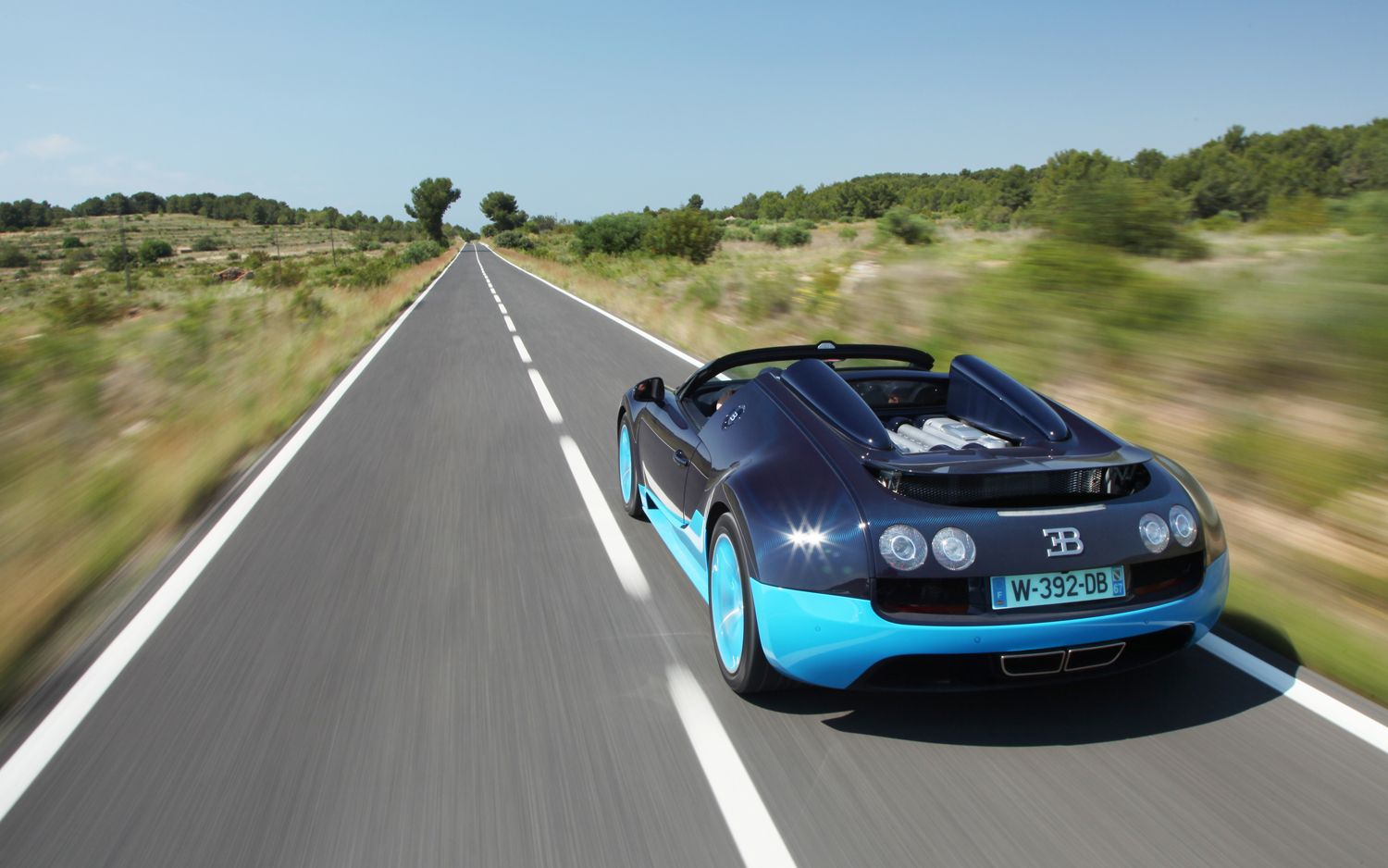2013 Bugatti Veyron Grand Sport Vitesse Rear Three Quarters In Motion 21