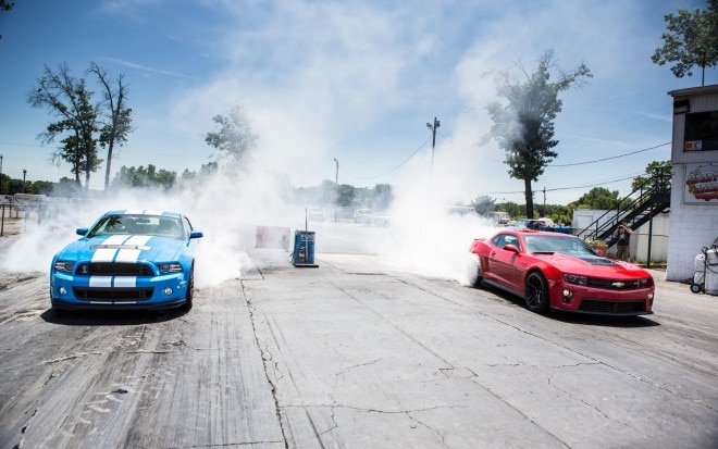 2013 Ford Shelby GT500 Vs 2012 Chevy Camaro ZL1 Front View1 660x413