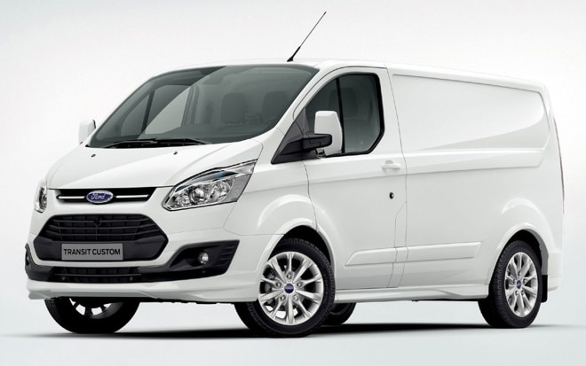 2013 Ford Transit Custom Cargo Van Front Three Quarter1 660x413