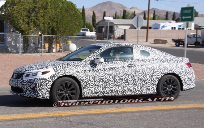 2013 Honda Accord Coupe Spyshot Side Front View1 660x413