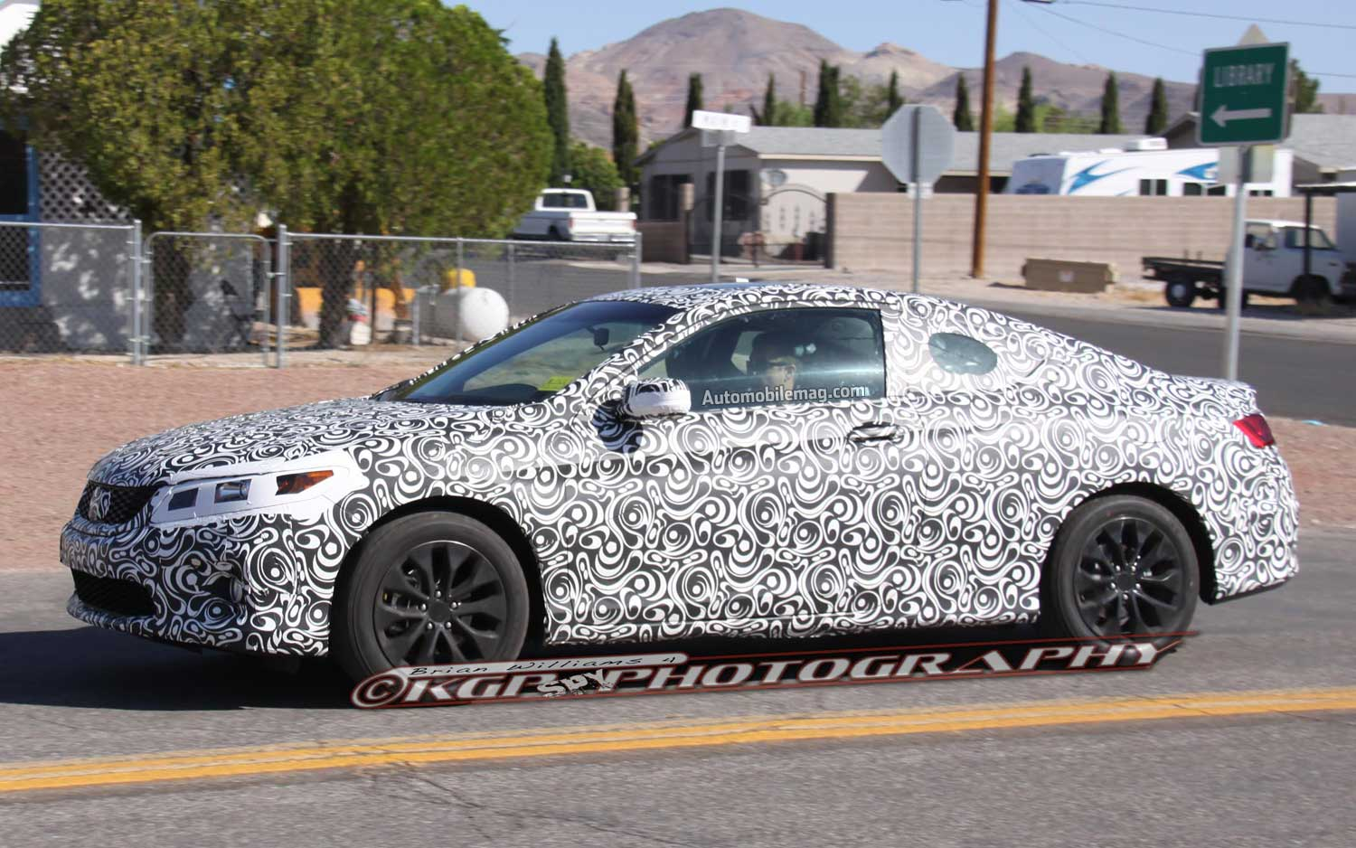 2013 Honda Accord Coupe Spyshot Side Front View1