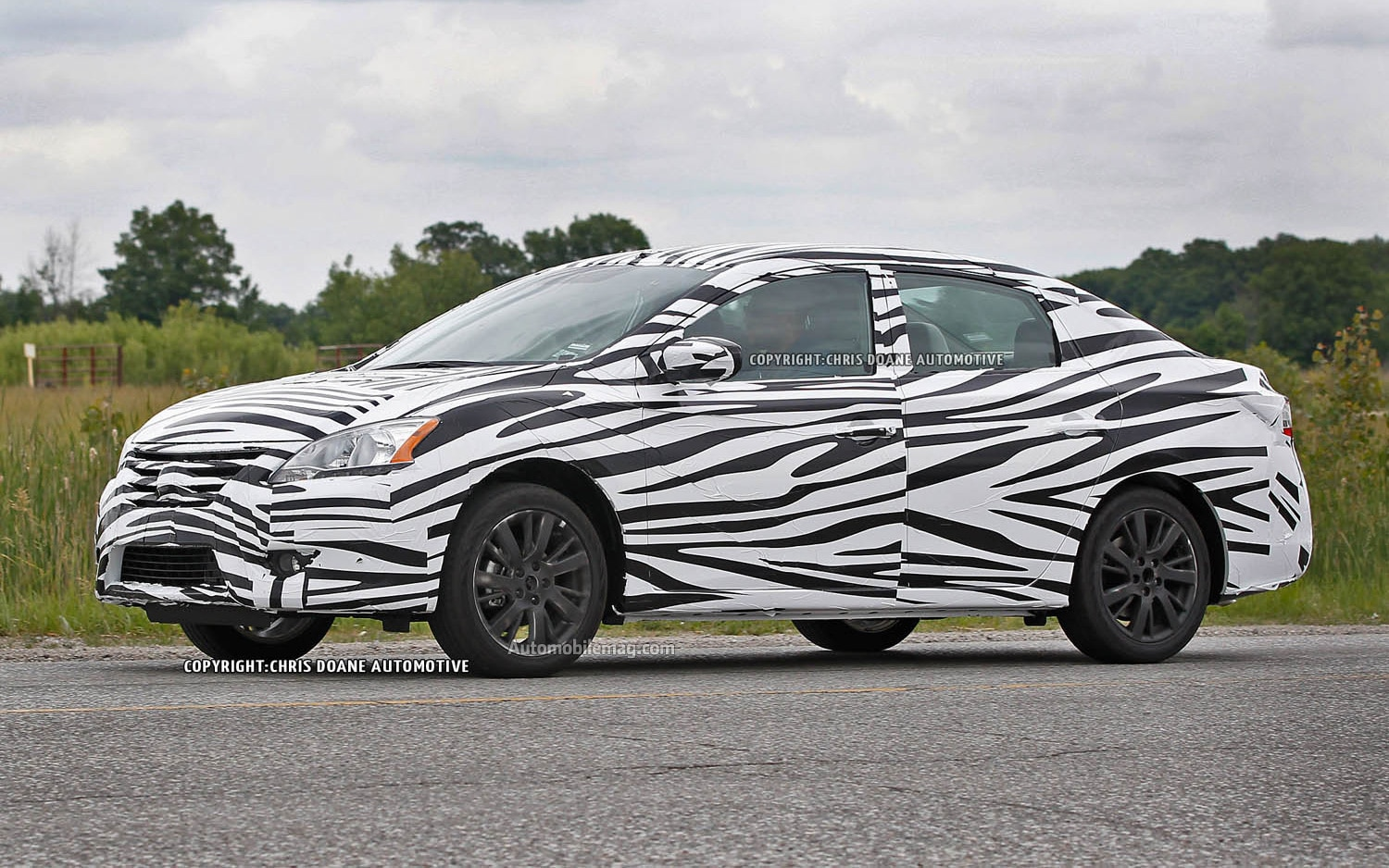 2013 Nissan Sentra Spied Front Three Quarter Static1