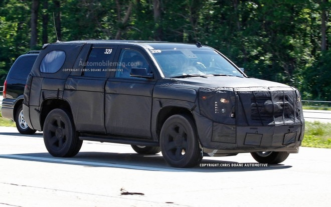 2014 Chevrolet Tahoe Spied Front Three Quarter 660x413