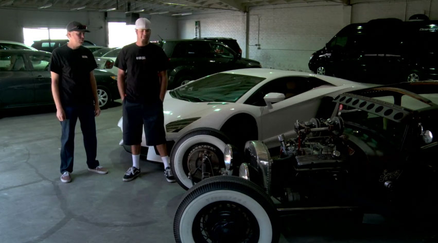 Stand Up By Lamborghini Aventador And Sailor Jerry Rat Rod1
