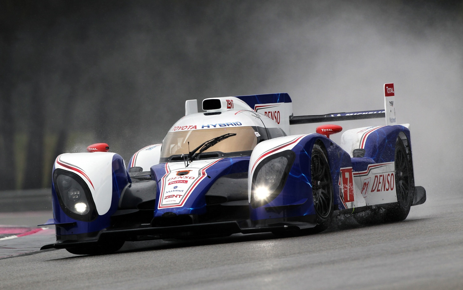 Toyota TS030 Race Car On Track1