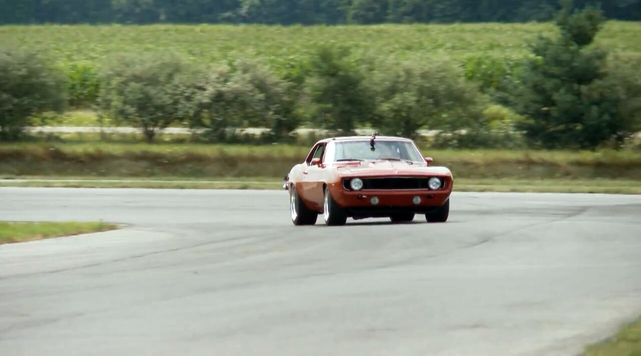 1969 Chevrolet Camaro Red Devil On Track1