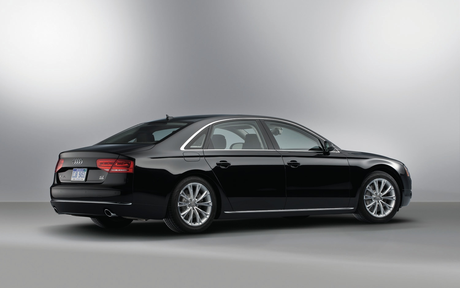 2012 Audi A8L Rear Three Quarter1