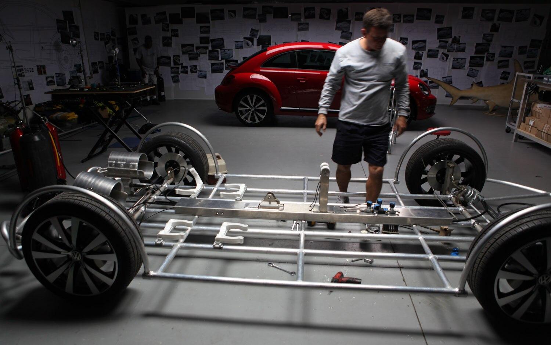 Volkswagen Beetle Shark Observation Cage Chassis on 2012 Vw Beetle Instrument Cluster
