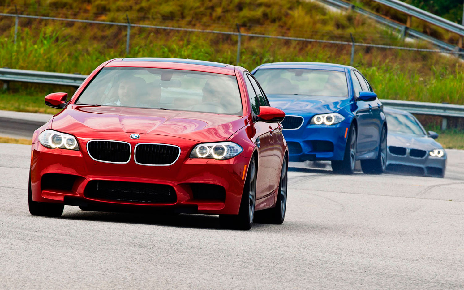 2013 BMW M5s On Handling Course1