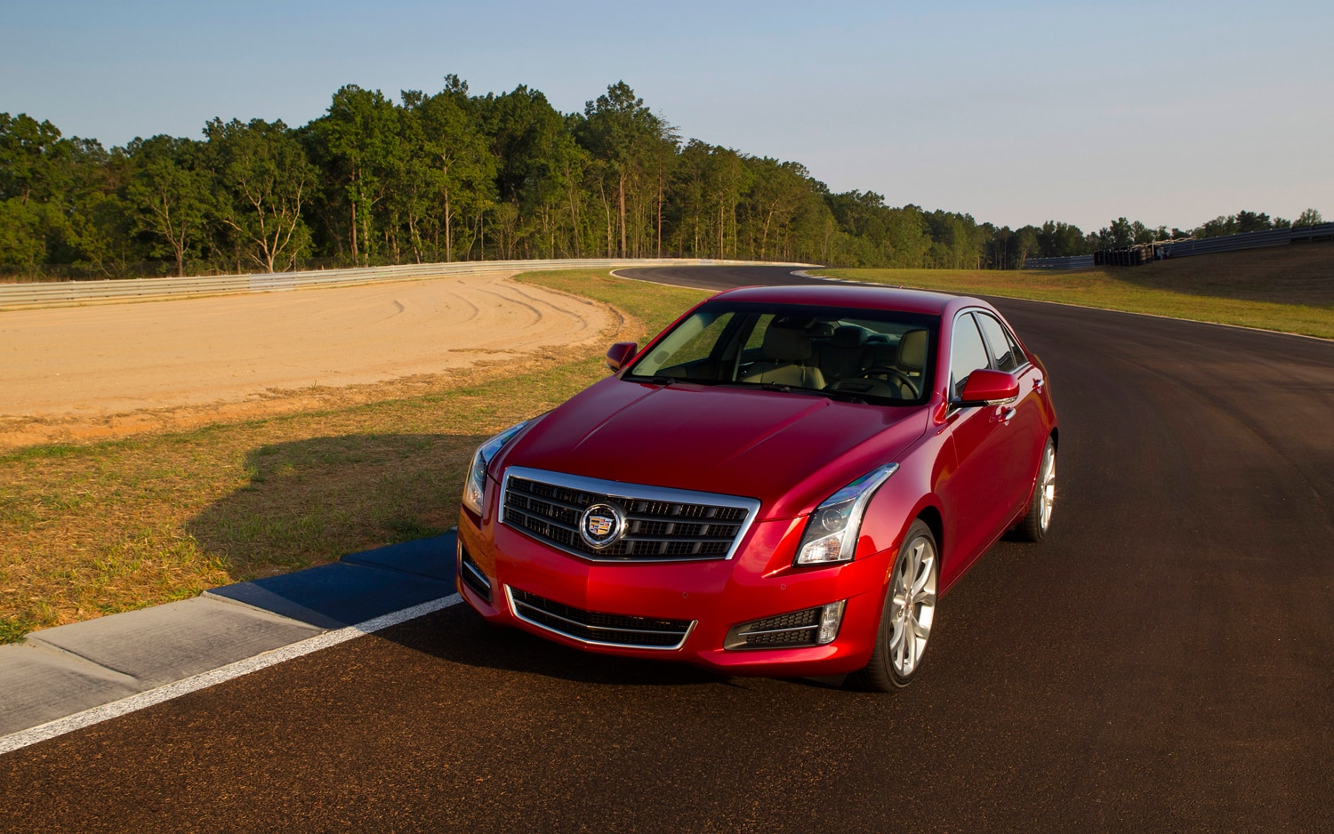 2013 Cadillac ATS Red Front Left View 21
