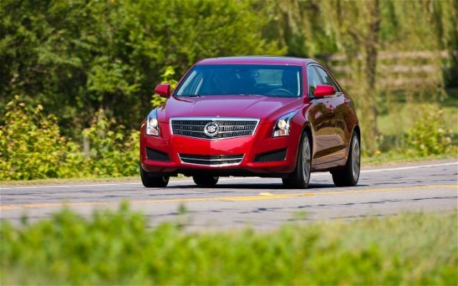 2013 Cadillac ATS Red Front Left View 51 660x413
