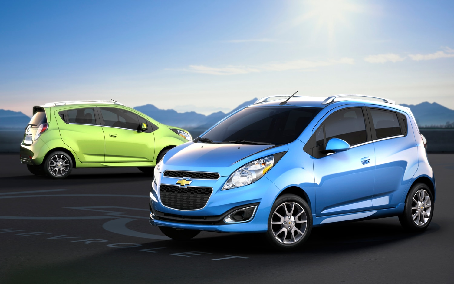 2013 Chevrolet Spark Front Rear Three Quarters1