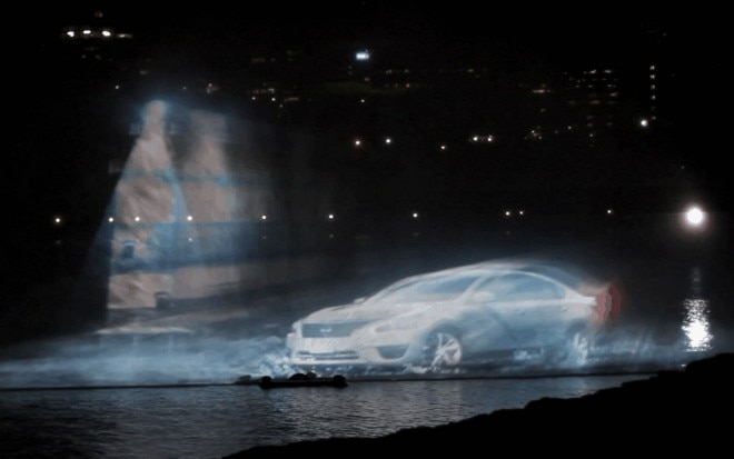 2013 Nissan Altima Canada Day Water Show Projection With Lighthouse1 660x413