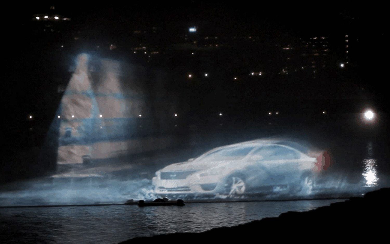 2013 Nissan Altima Canada Day Water Show Projection With Lighthouse1