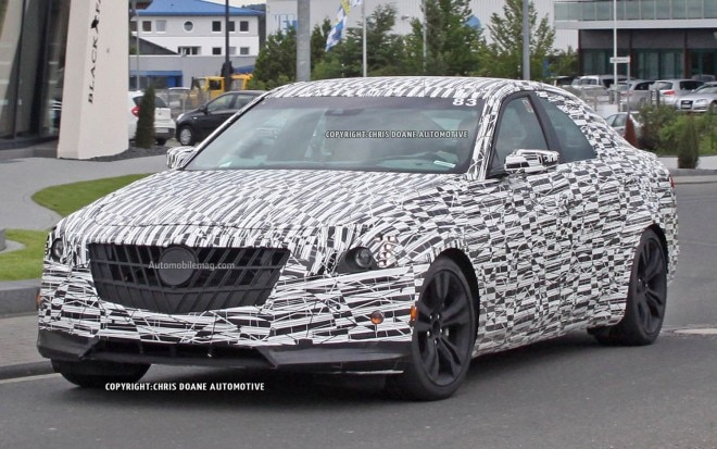 2014 Cadillac CTS Spy Photo Front Three Quarter 11 660x413